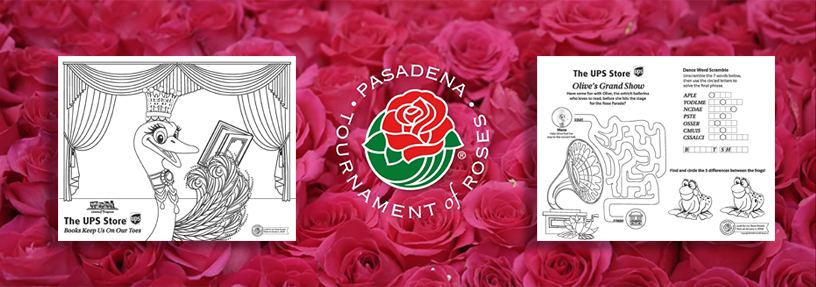 2019 Rose Parade - Coloring & Activity Sheet banner