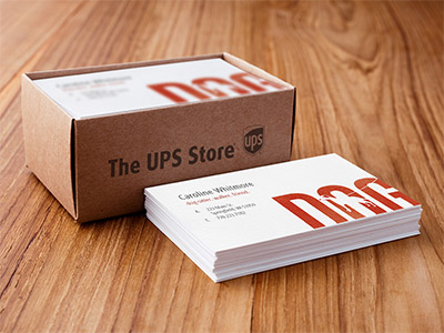 Business cards custom business cards the ups store pizzeria business card in wood holder flashek Image collections