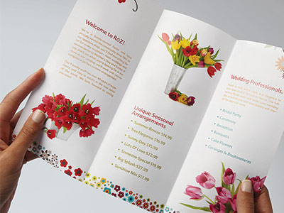 Brochure example for a flower shop