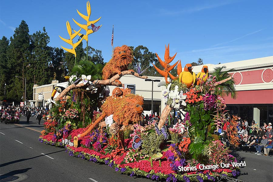 The UPS Store's award-winning float at the 2020 Rose Parade