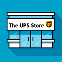 Illustrated icon of a The UPS Store location