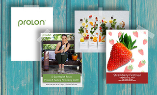 Glossy flyers printed on front and back