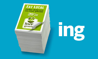 Stack of printed to-go/takeout menus