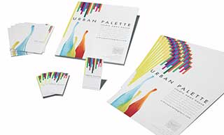 Assorted printed material arrange artfully