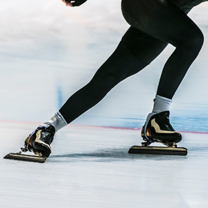 Speed skater athlete on ice