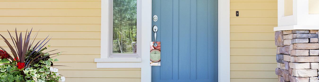 Door Hangers Design professionally printed door hangers from the ups store