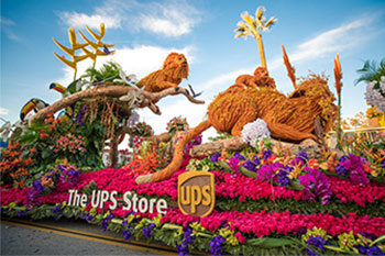 Photo of The UPS Store's 2020 Rose Parade Float
