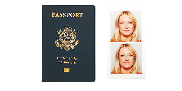 passport and two passport photos next to it