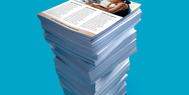 Stack of newsletters