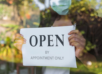 open sign by appointment