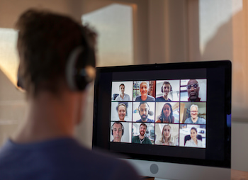 person on a video call