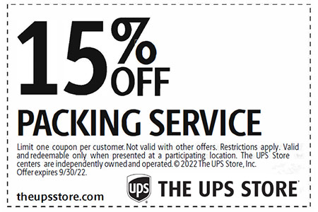 Packing service coupon
