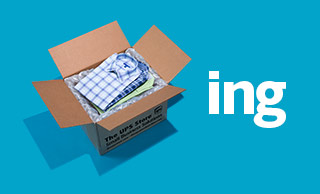 Men's shirts packed in a shipping box