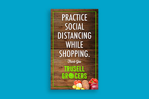 Poster for reopening clothing store