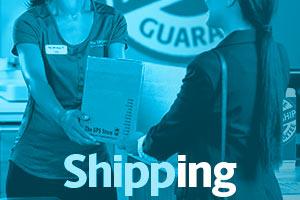Customer handing package to associate